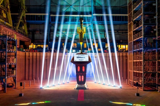 Carnival Corporation & plc marked the official beginning of construction for the first of its seven next-generation cruise ships that will be fully-powered by liquefied natural gas (LNG) with a keel-laying ceremony at Seatrade Europe in Hamburg. (PRNewsfoto/Carnival Corporation & plc)