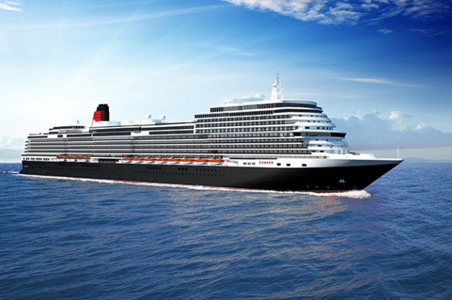 Carnival Corporation has signed a memorandum of agreement with Italian shipbuilder Fincantieri S.p.A. to build a new cruise ship for the company's iconic Cunard brand.  Image courtesy of Cunard (PRNewsfoto/Carnival Corporation & plc)