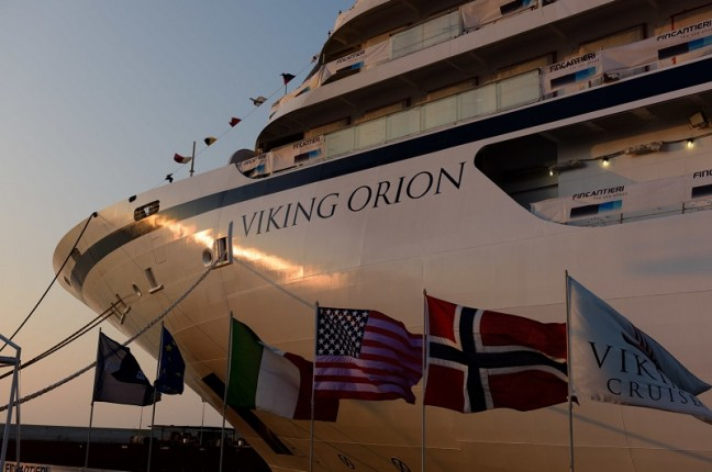 Viking announced that American chemist, emergency room physician and recently retired NASA astronaut, Dr. Anna Fisher will be honored as the godmother to its fifth 930-guest ocean ship, Viking Orion, debuting in July 2018. The new ship has been named after the prominent constellation and in honor of Dr. Fisher's contributions to NASA's Orion exploration vehicle project. For more information visit www.vikingcruises.com. (PRNewsfoto/Viking)