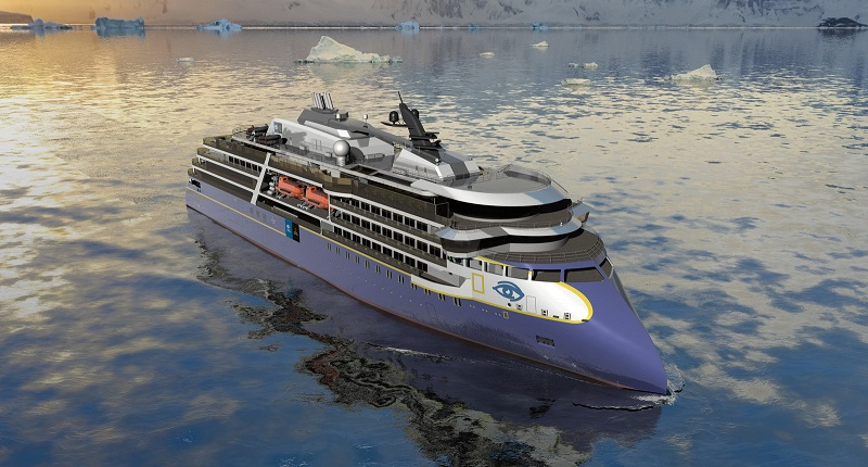 Lindblad Expeditions svela i rendering della National Geographic Endurance