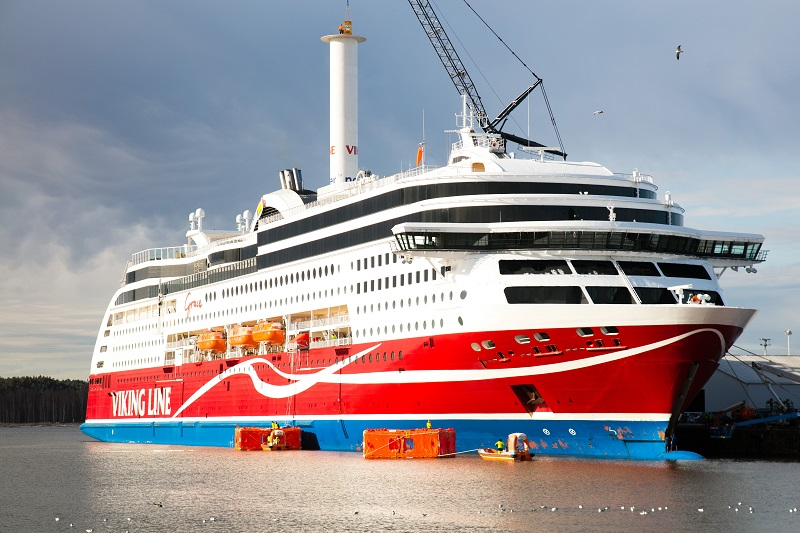 Viking Grace, la prima nave passeggeri al mondo con la turbovela.