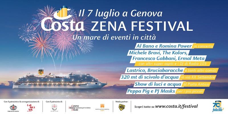 Costa Zena Festival: una festa da record per i 70 anni di Costa Crociere