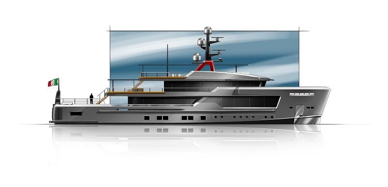 AlfaRosso è il nuovo explorer yacht firmato CRN e Francesco Paszkowski Design