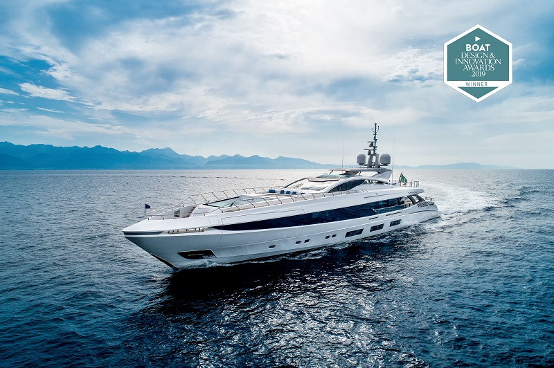 """EL LEON"" vince nella categoria ""Best Interior Design Motor Yachts 300GT to 499GT"" ai Boat International Design & Innovation Awards 2019"