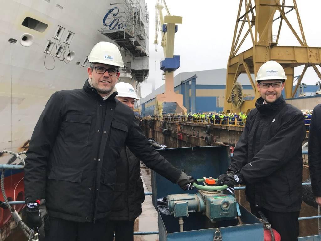Varo tecnico per Costa Smeralda, nuova ammiraglia di Costa Crociere