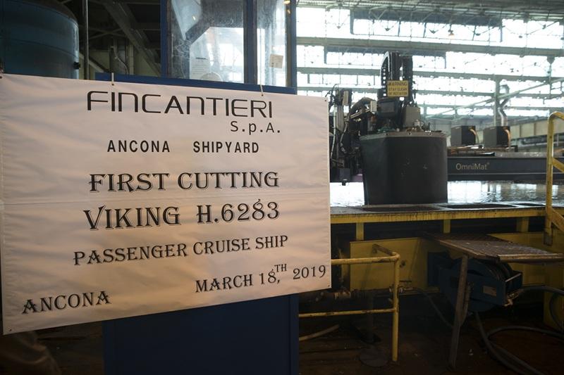 Fincantieri: al via i lavori ad Ancona per la nuova nave di Viking