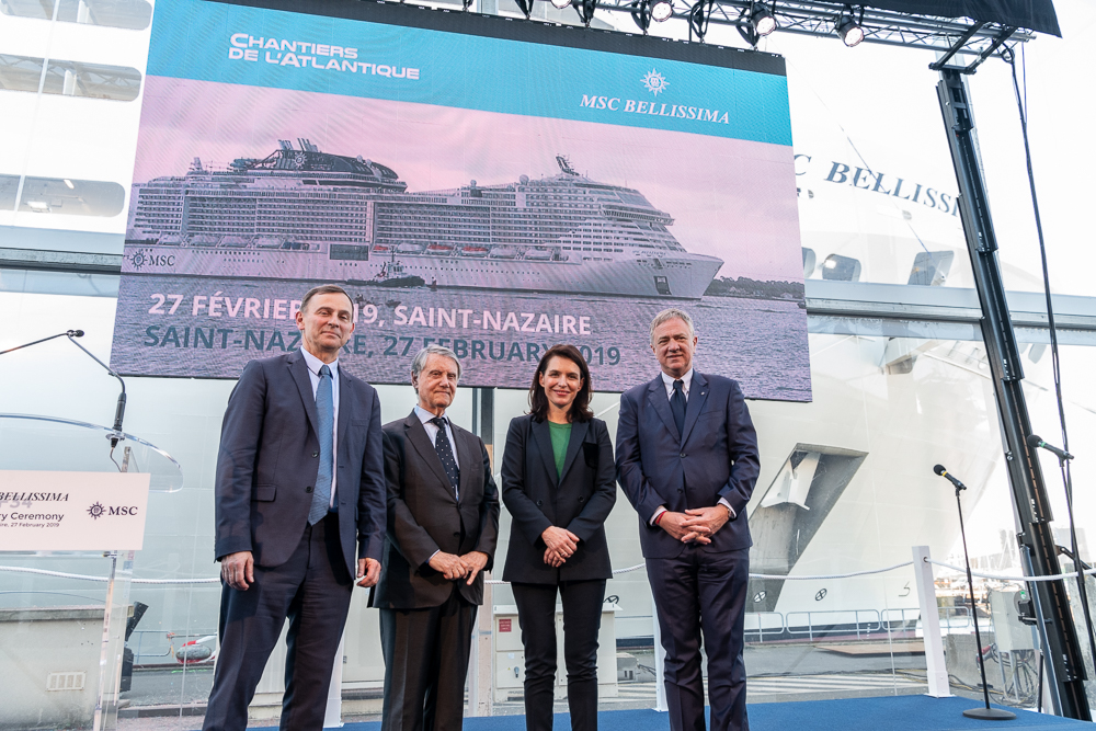 MSC Crociere e Chantiers de l'Atlantique presentano MSC Bellissima