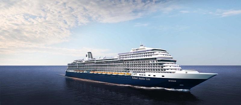Si chiamerà Ryndam la terza nave della classe Pinnacle di Holland America Line