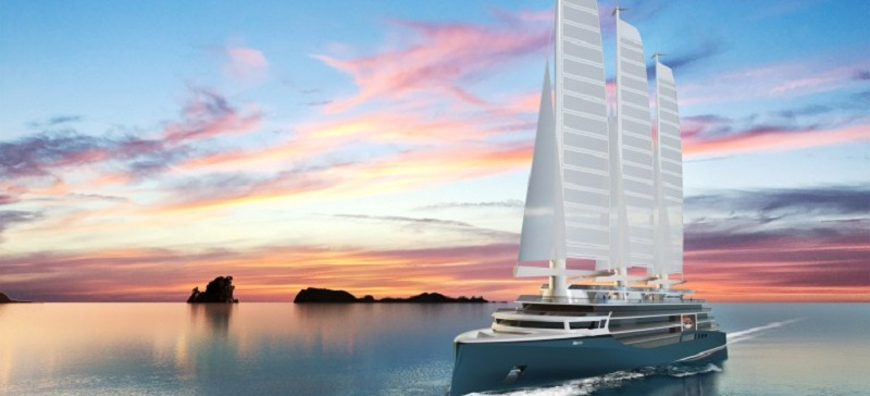 Chantiers de l'Atlantique presenta Silenseas+, per navigare a vela ma con tutti i servizi di una nave da crociera di lusso