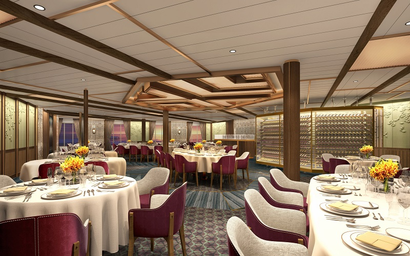 Seabourn svela gli otto ristoranti a bordo delle nuove unità da spedizione