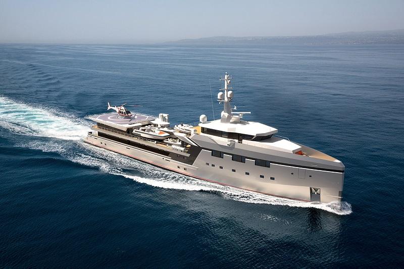 Damen ottiene la commessa per uno yacht di supporto di 75 metri