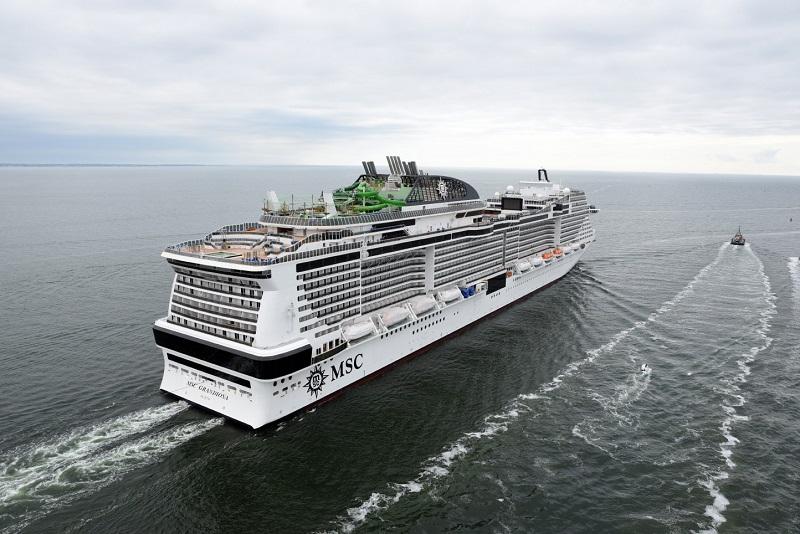 Prime prove in mare per MSC Grandiosa