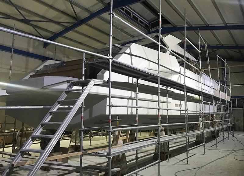 Sempre più vicino il completamento dei lavori del Mazu 82, il primo superyacht di Mazu Yachts