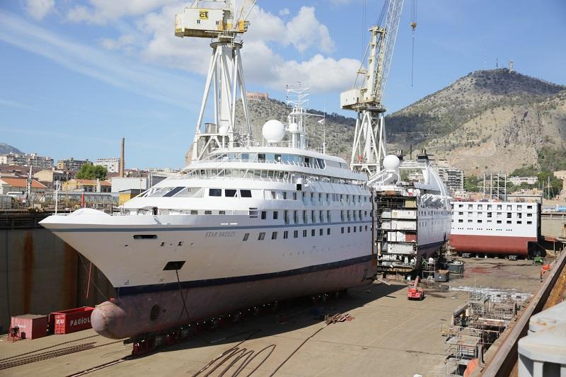 Fincantieri taglia Star Breeze in due e inserisce una nuova sezione di 25,6 metri
