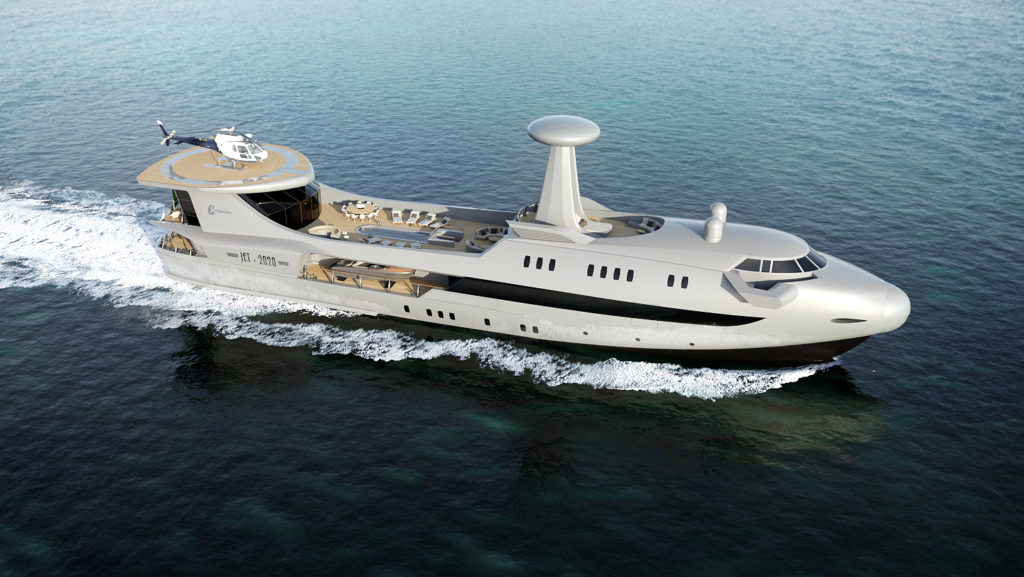 Codecasa Jet 2020, quando il design aeronautico incontra lo yachting