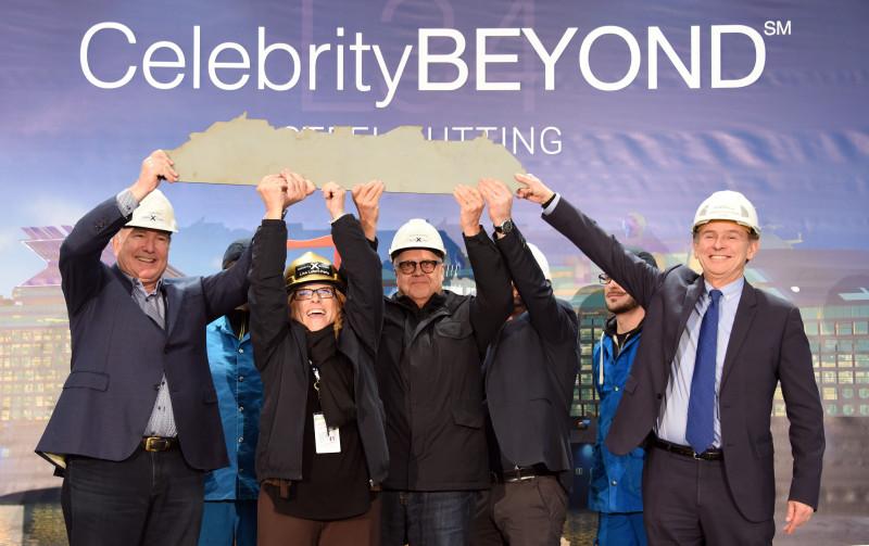 Tagliata la prima lamiera di Celebrity Beyond, terza nave di classe Edge