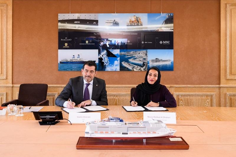 MSC Crociere e Abu Dhabi Ports firmano un accordo di lungo periodo per i diritti preferenziali di attracco