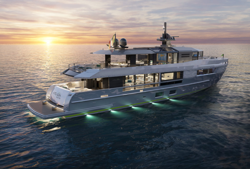 Un nuovo stile per l'A115 di Arcadia Yachts per esaltare l'interazione tra interni ed esterni