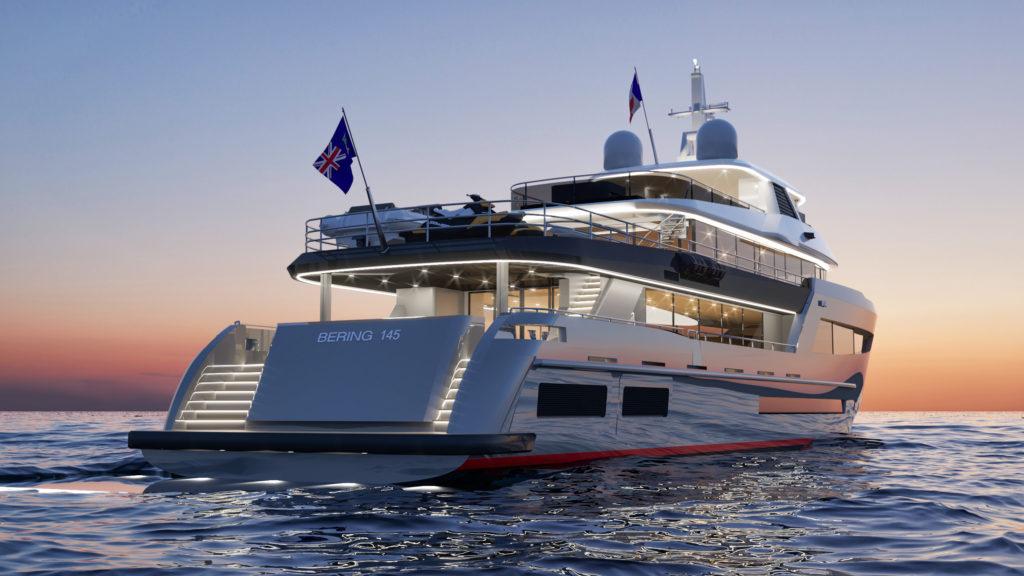 Bering 145, il superyacht ibrido per lunghissimi itinerari
