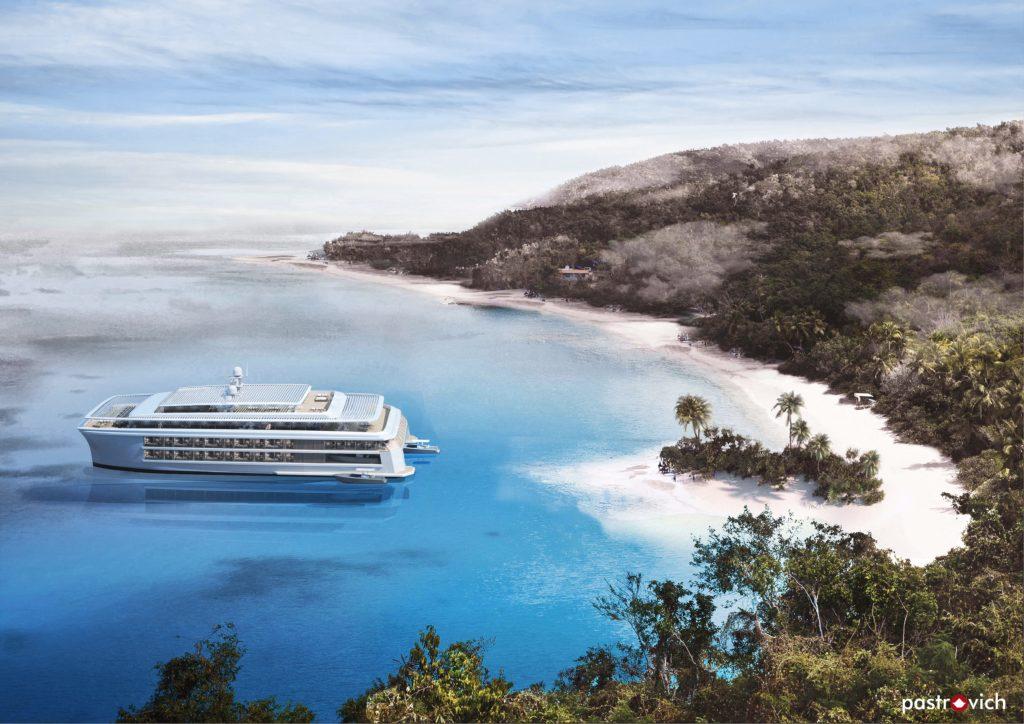 Wärtsilä e Pastrovich presentano un nuovo progetto di catamarano ecosostenibile destinato alle crociere boutique