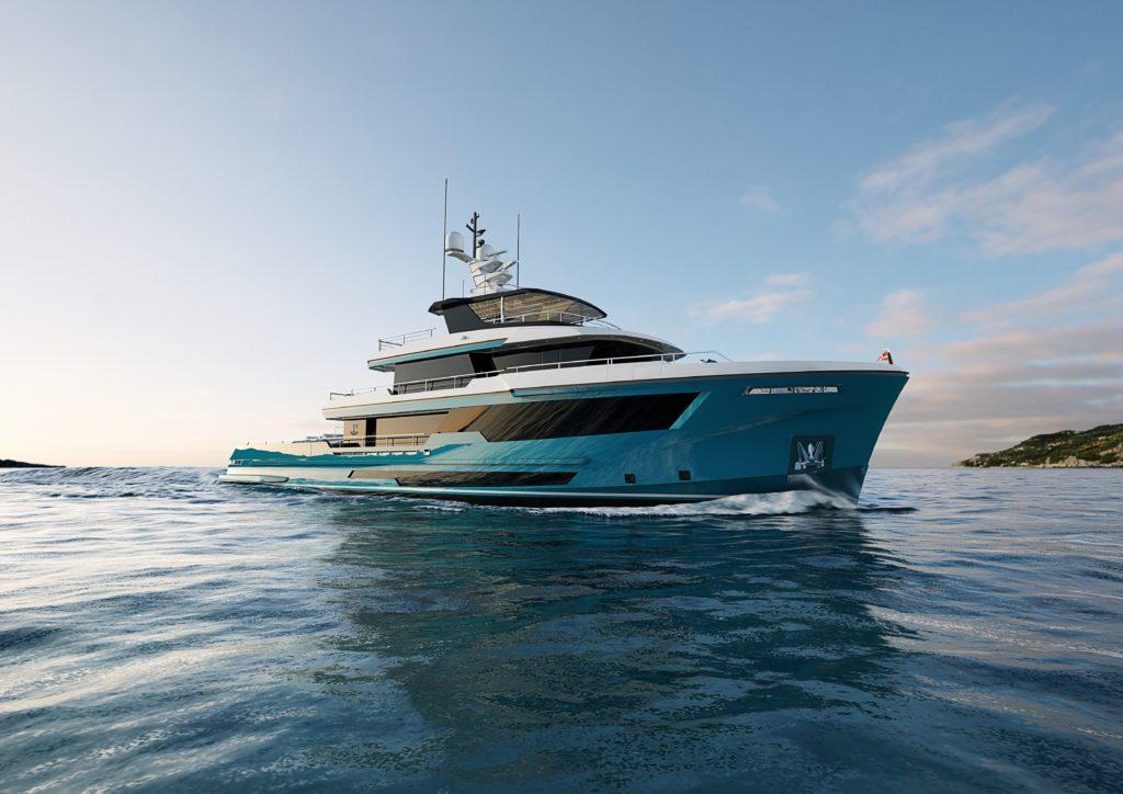 Columbus 40 Crossover, il superyacht compatto progettato per i grandi tender
