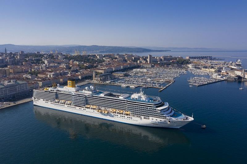 Tornano le crociere costa: parte oggi da Trieste Costa Deliziosa per una crociera tutta italiana