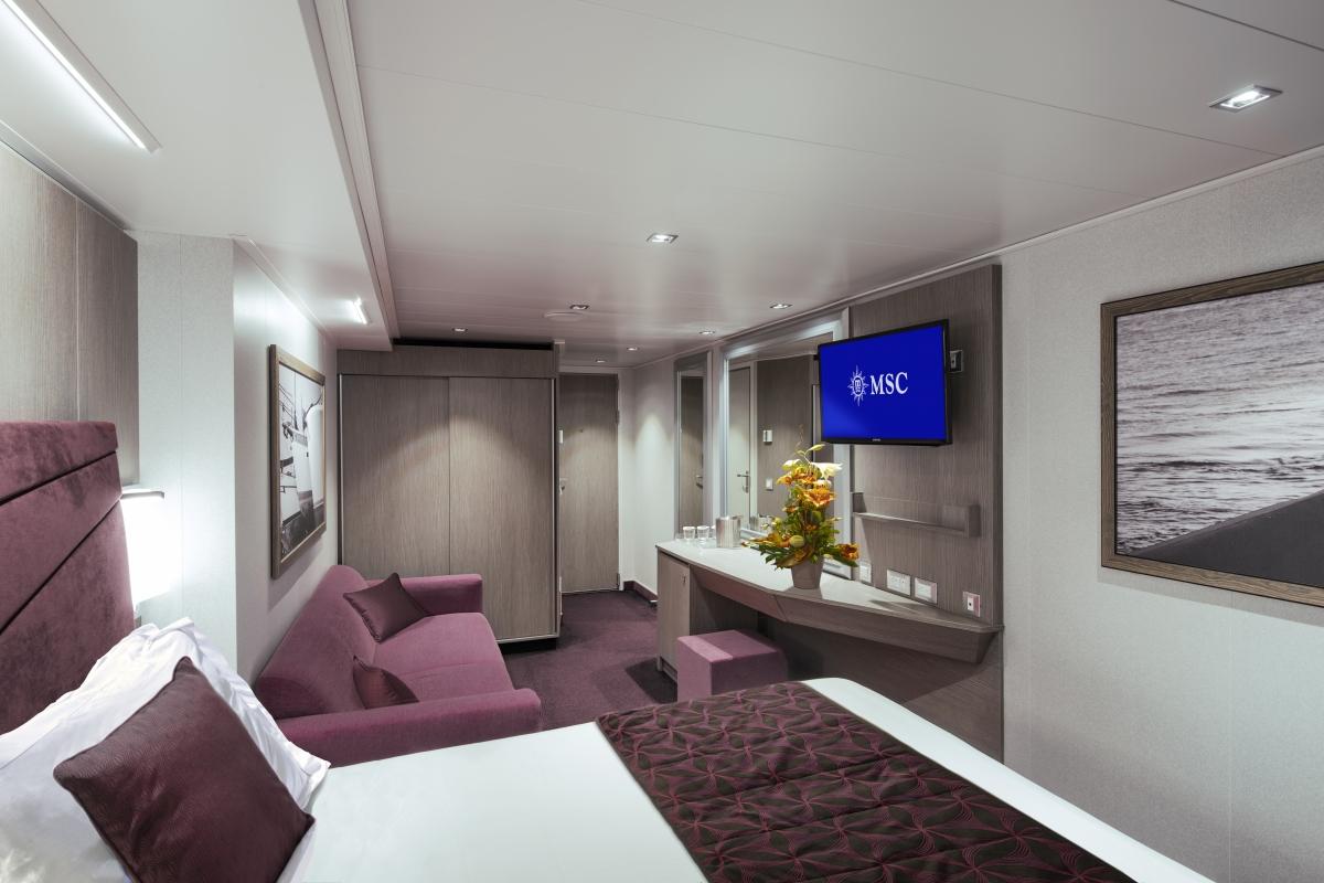 Il 21 dicembre il battesimo di msc seaside a miami con for Quali sono le migliori cabine su una nave da crociera