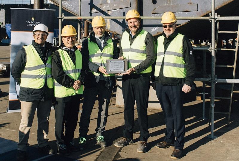 Celebrata la posa della chiglia di Seabourn Venture