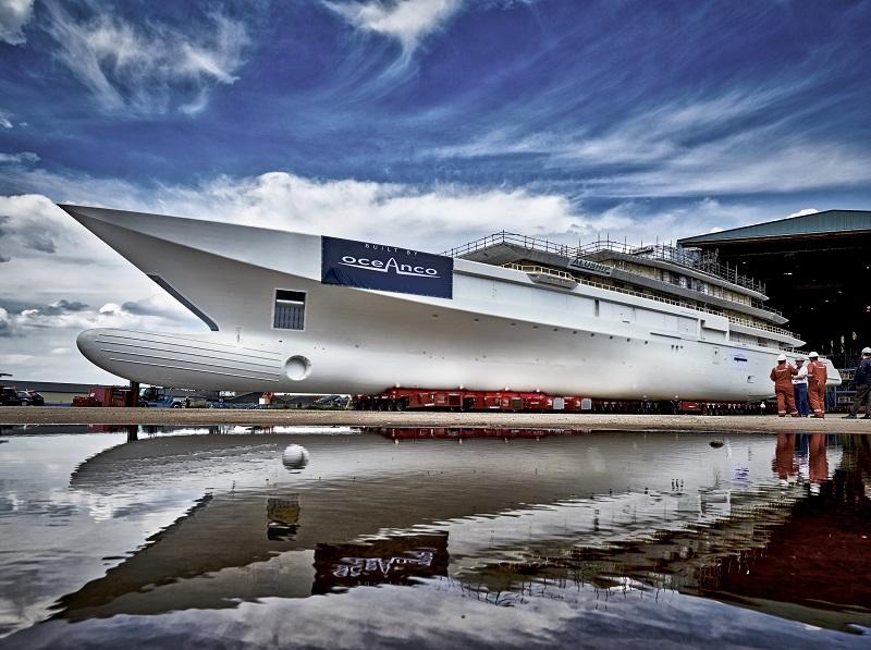 Completata la costruzione di scafo e sovrastruttura del nuovo Oceanco di 109 metri