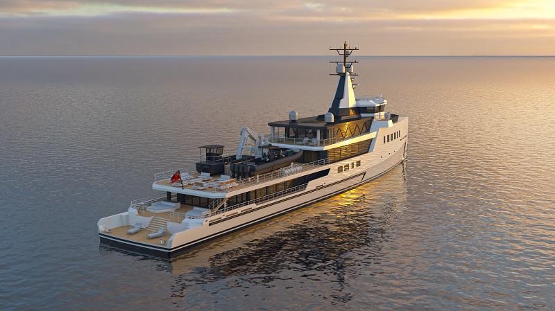 Damen Yachting vende un expedition custom ad alimentazione ibrida da 72 metri