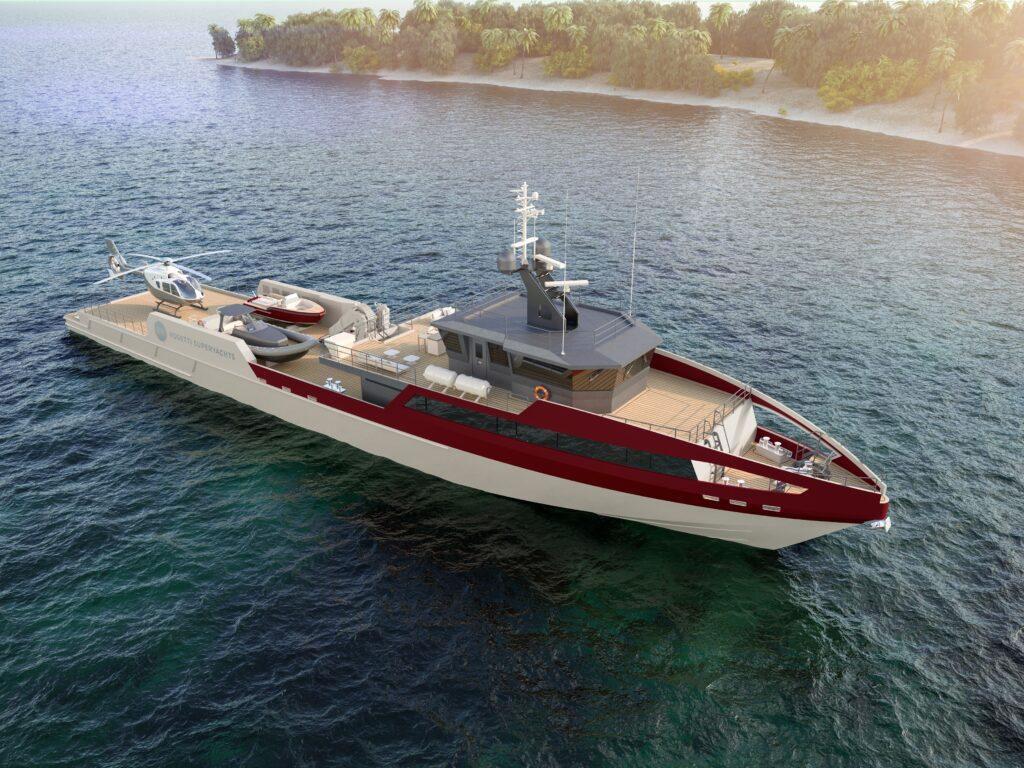 Rosetti Superyachts svela il nuovo 55 metri Support Vessel sviluppato insieme a HydroTec