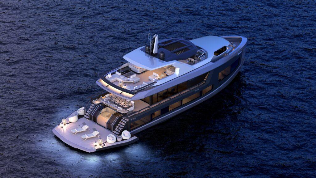 Con il 92 DS Mazu Yachts entra nel settore dei superyacht in acciaio