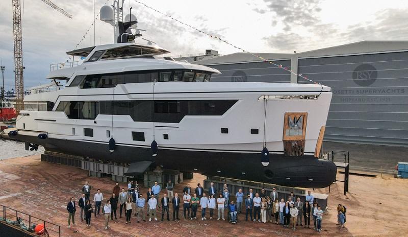 Varata la prima unità di Rosetti Superyachts: l'RSY 38m EXP