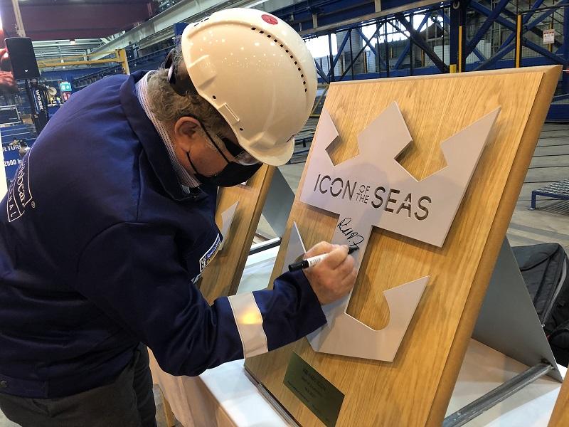 Meyer Turku avvia la costruzione di Icon of the Seas