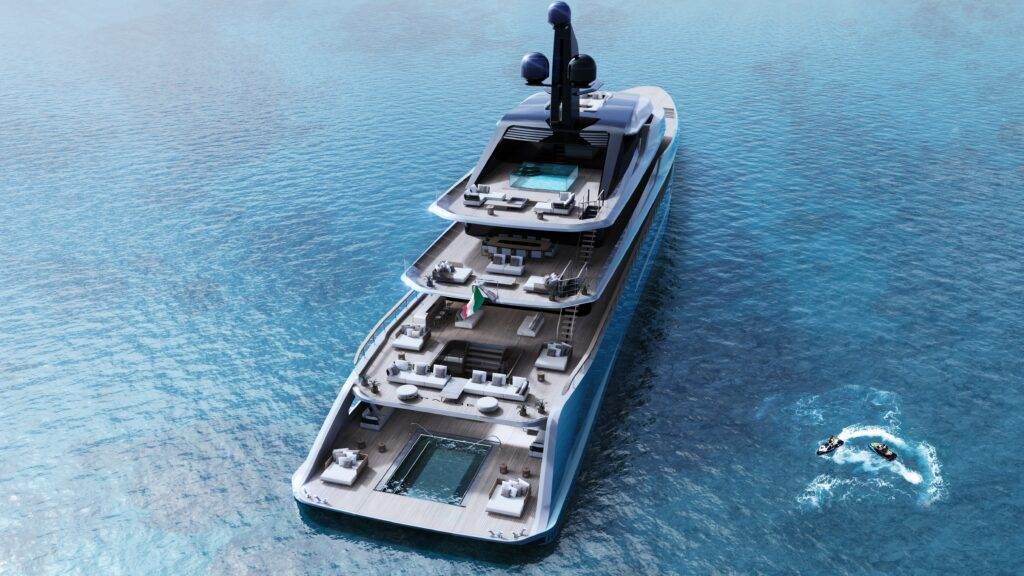Tankoa T760 Apache, il superyacht con una piscina sospesa di 9,5 metri